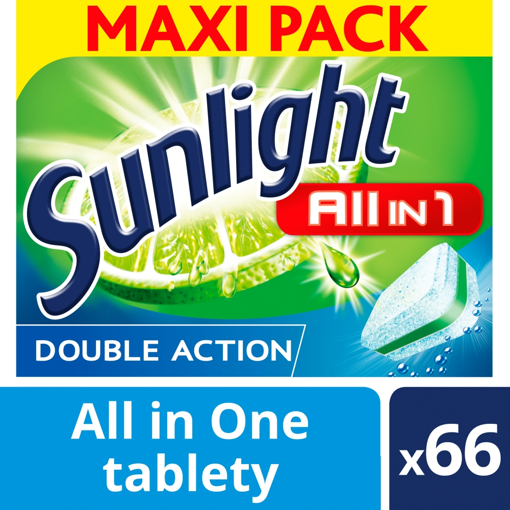 Sunlight All in 1 Tablety do myčky nádobí 66 ks