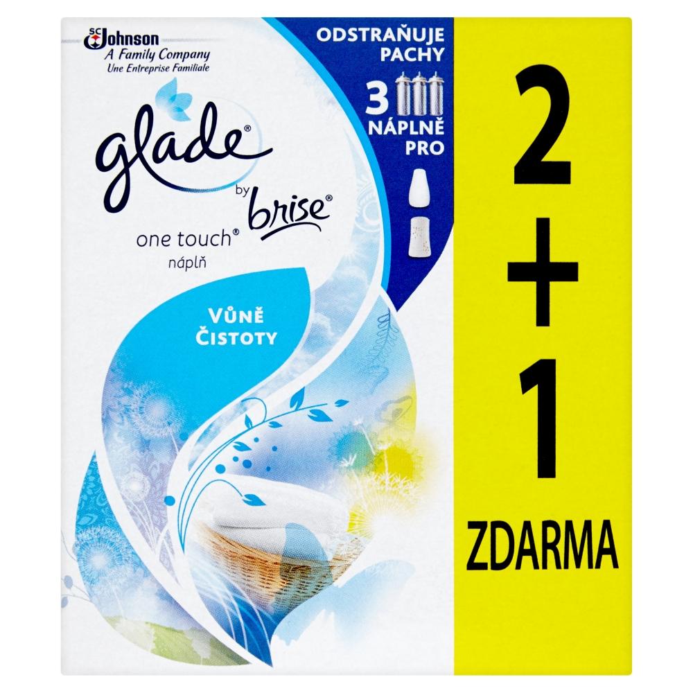 Glade by Brise One Touch vůně čistoty náplň 2+1 3 x 10 ml