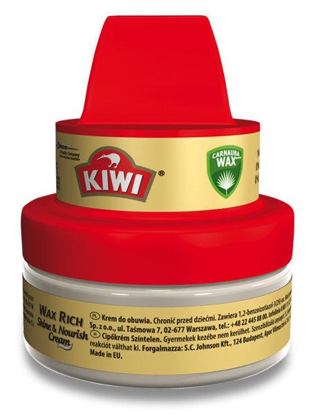 Kiwi Shine & Nourish Cream krém na obuv s houbičkou bezbarvý 50 ml