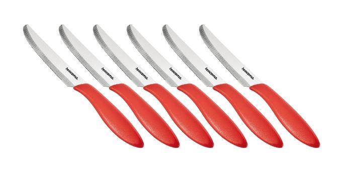 Tescoma PRESTO nůž jídelní 12 cm červená, 6 ks