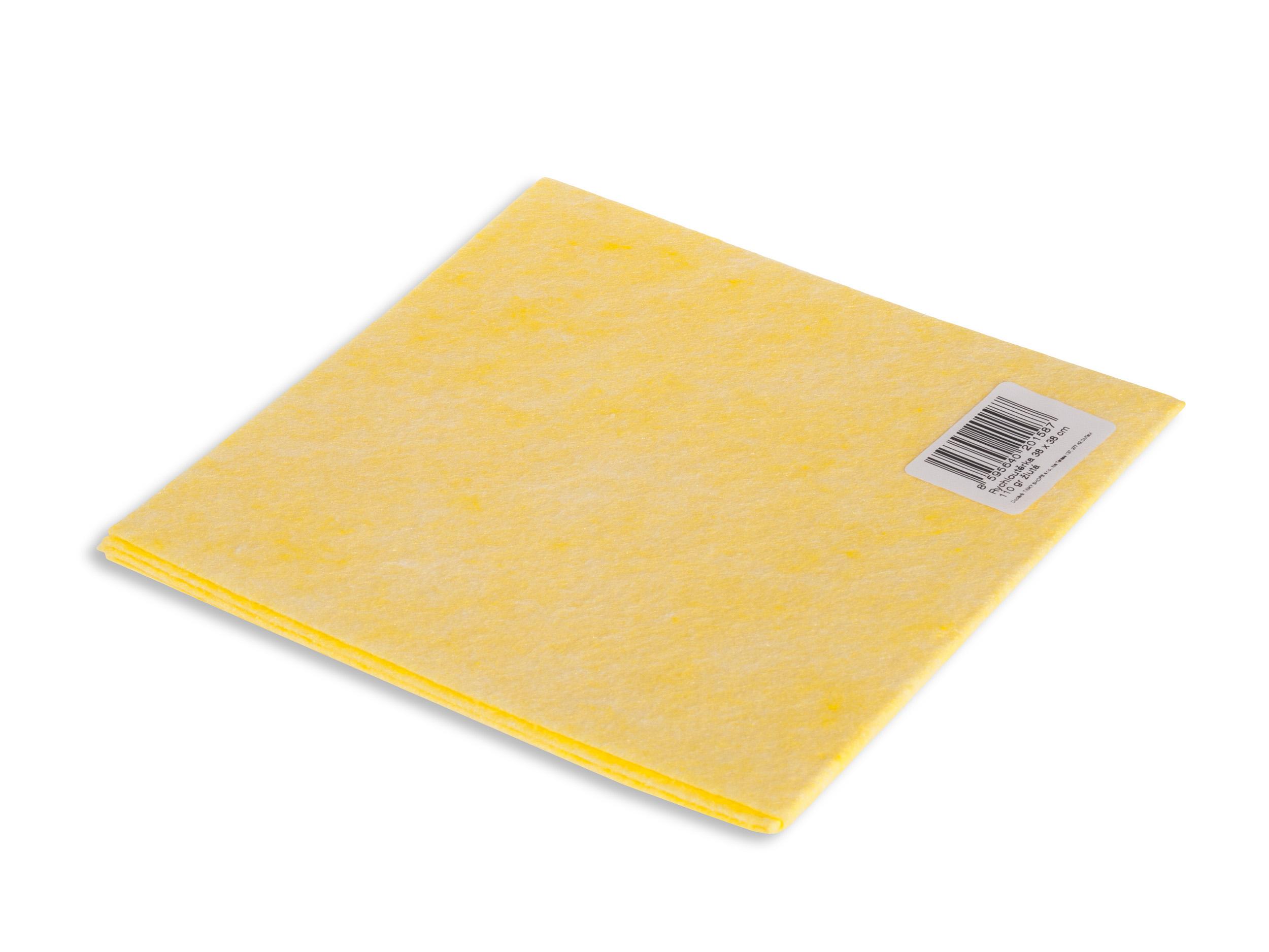 Vektex rychloutěrka 38 x 38 cm žlutá, 110 g