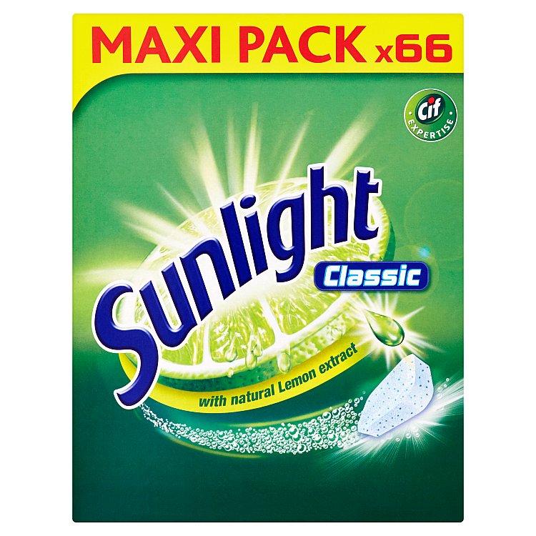 Sunlight Classic Tablety do myčky nádobí 66 ks