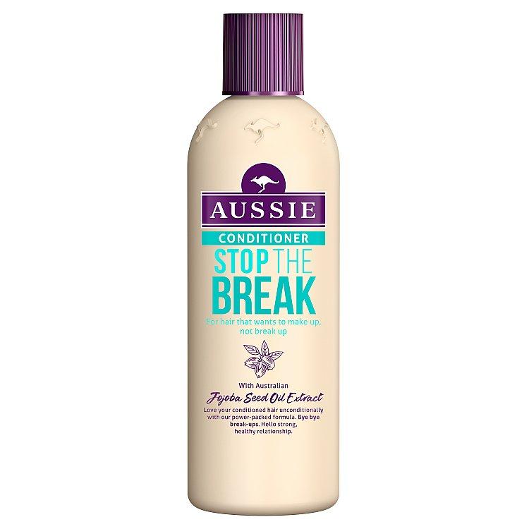 Aussie Stop The Break balzám pro vlasy poškozené teplem 250 ml