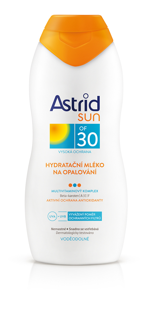 Fotografie Astrid Hydratační mléko na opalování OF 30 Sun