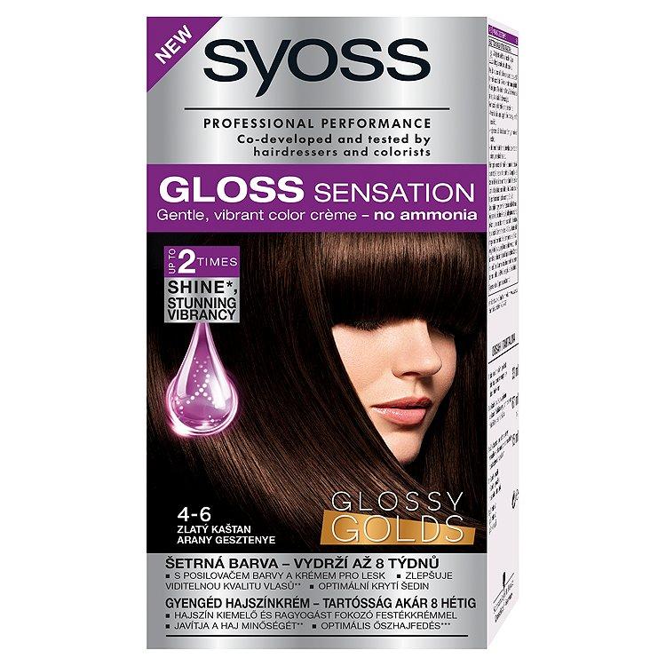Syoss Gloss Sensation barva na vlasy 4-6 Zlatý kaštan, 33 ml