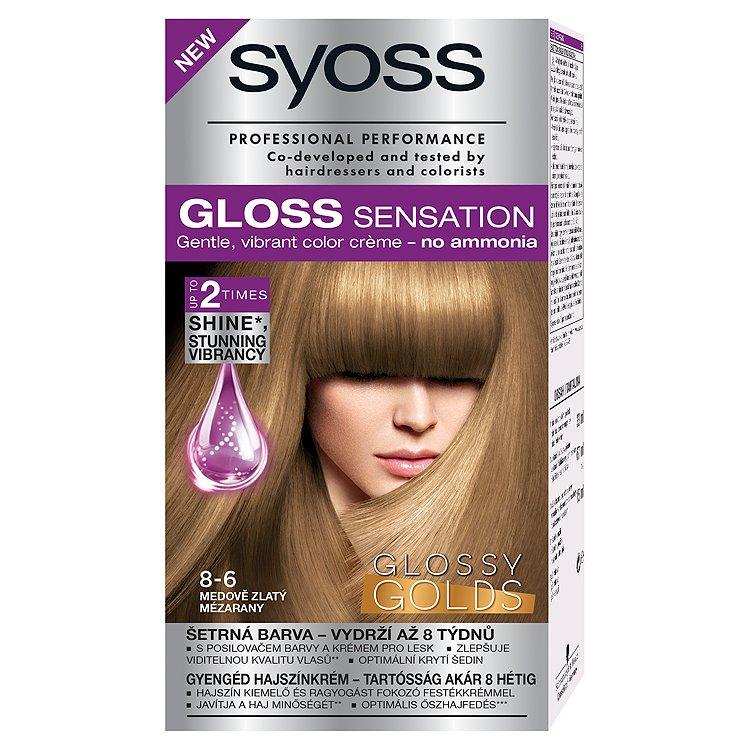 Syoss Gloss Sensation barva na vlasy 8-6 Medově zlatý, 33 ml