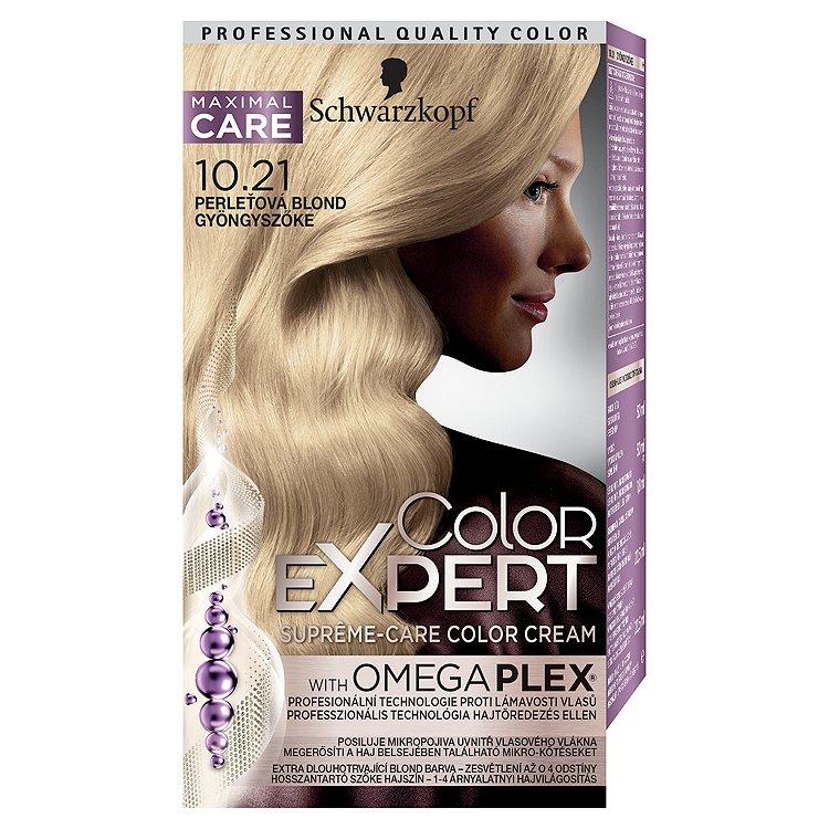 Schwarzkopf Color Expert barva na vlasy 10.21 Perleťová blond, 50 ml