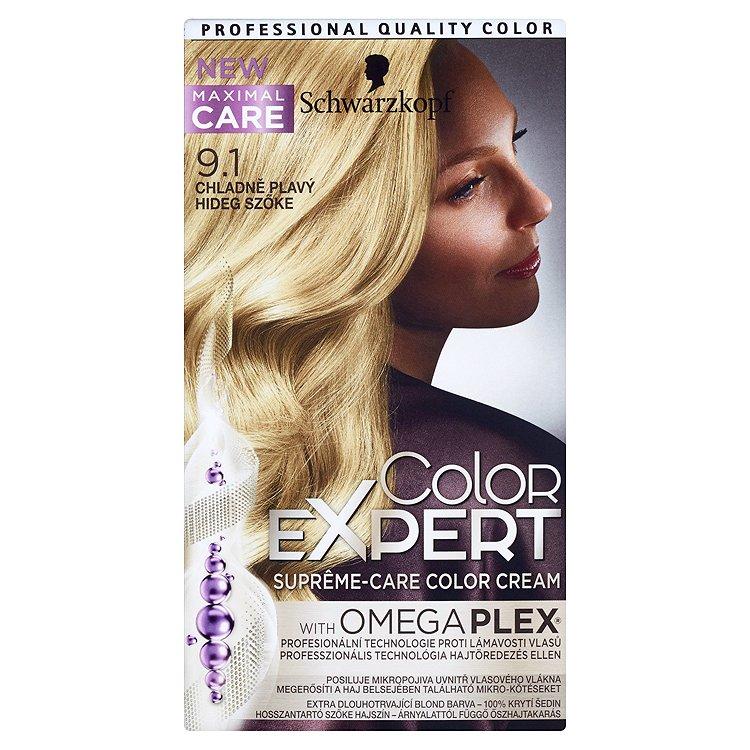 Schwarzkopf Color Expert barva na vlasy 9.1 Chladně plavý, 50 ml