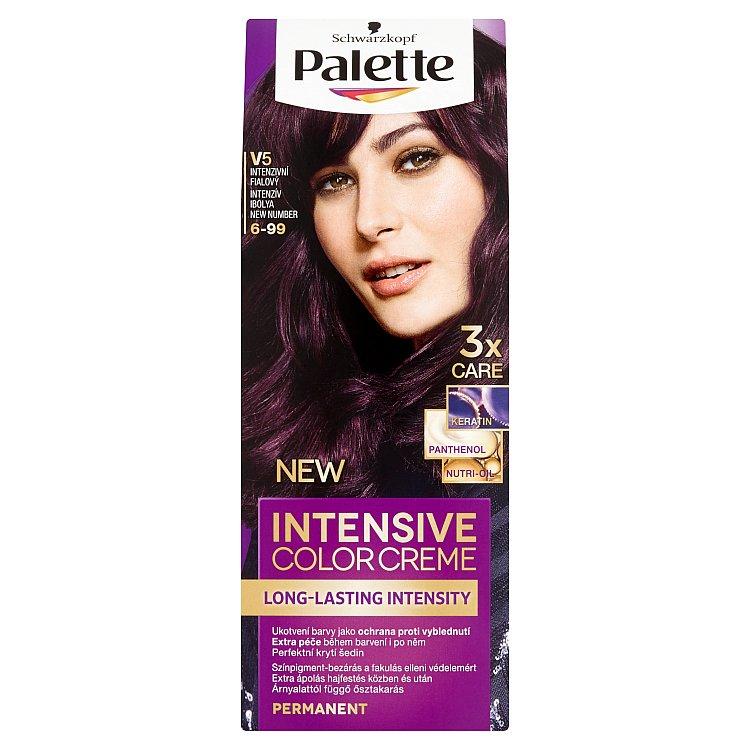 Fotografie Schwarzkopf Palette Intensive Color Creme barva na vlasy V5 Intenzivní fialový