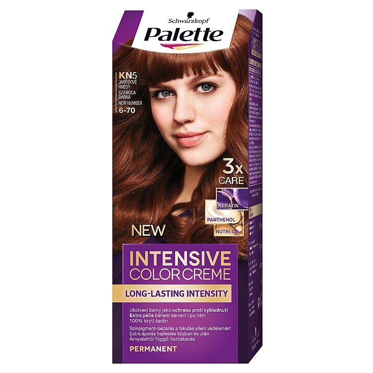 Fotografie Schwarzkopf Palette Intensive Color Creme barva na vlasy KN5 Jahodově hnědý