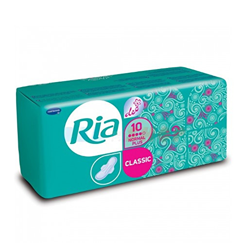 Ria Classic Normal Plus Deo dámské hygienické vložky se svěží vůní 10 ks