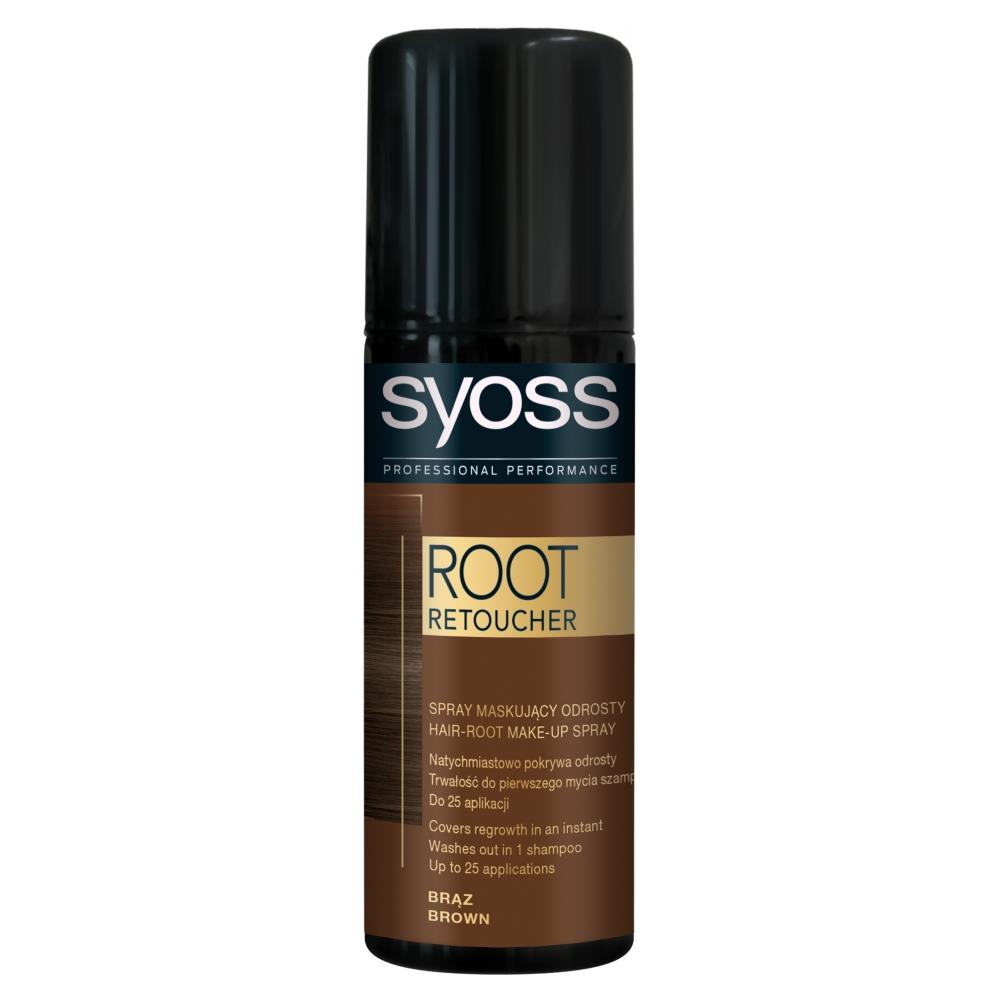 Syoss Root Retoucher korektor odrostlých vlasů hnědý, 120 ml