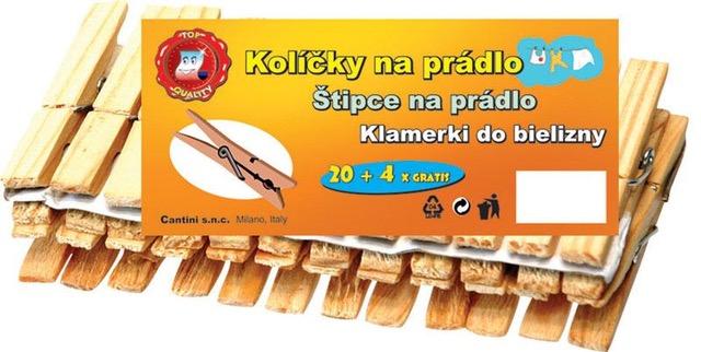 Kolíčky dřevěné 24 ks