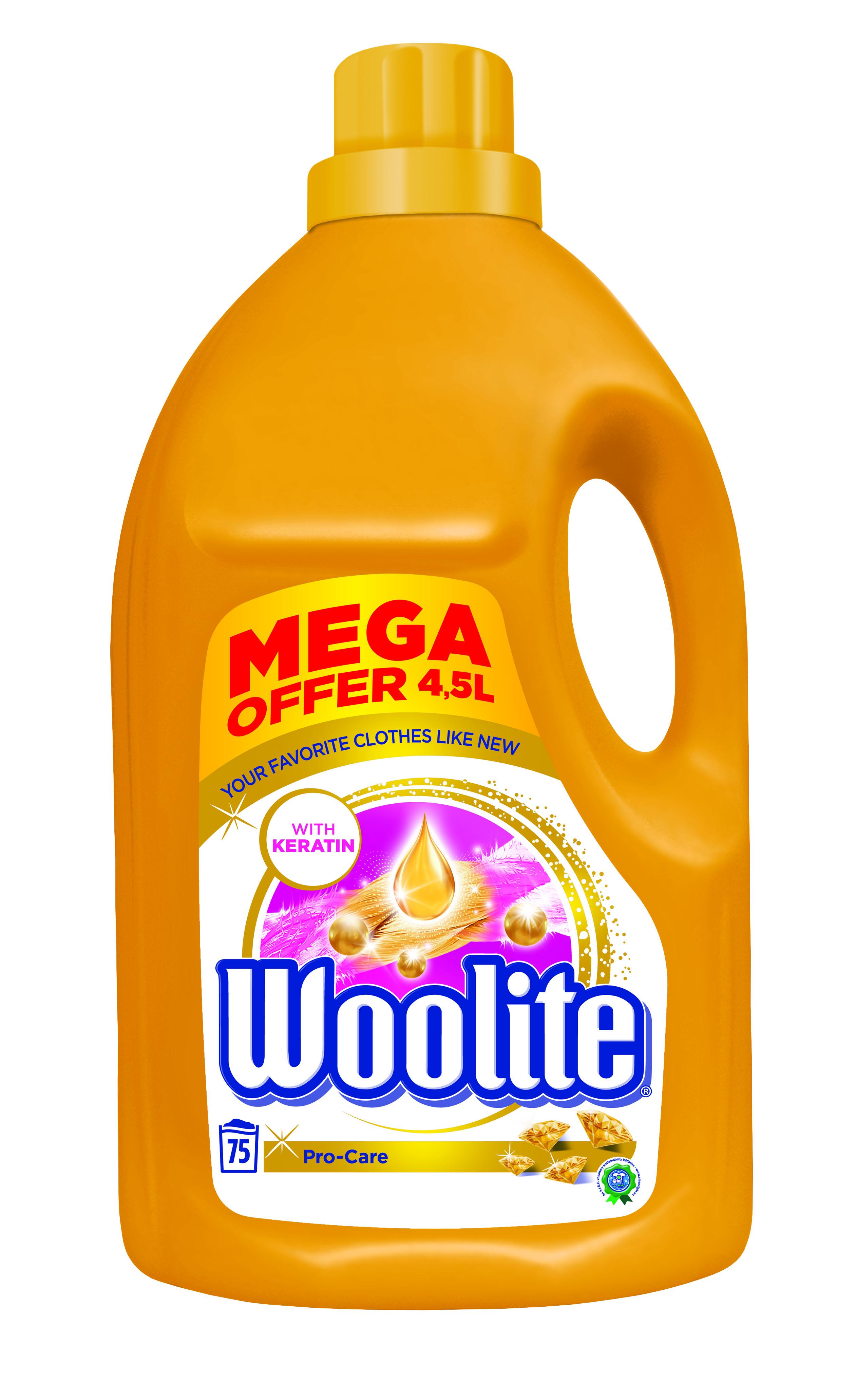 Woolite Pro-Care tekutý prací prostředek, 75 praní 4,5 l