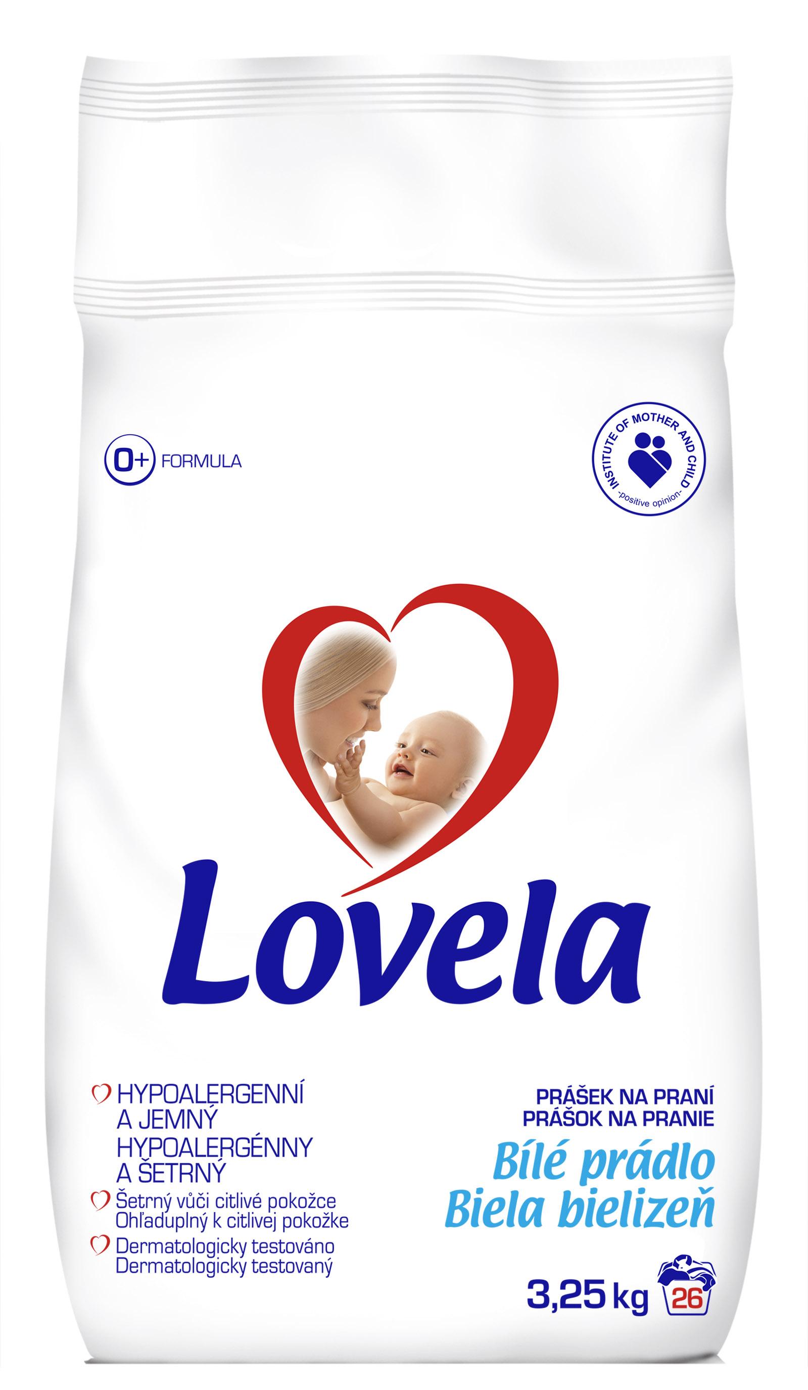 Lovela bílá dětský prací prášek, 26 praní 3,25 kg