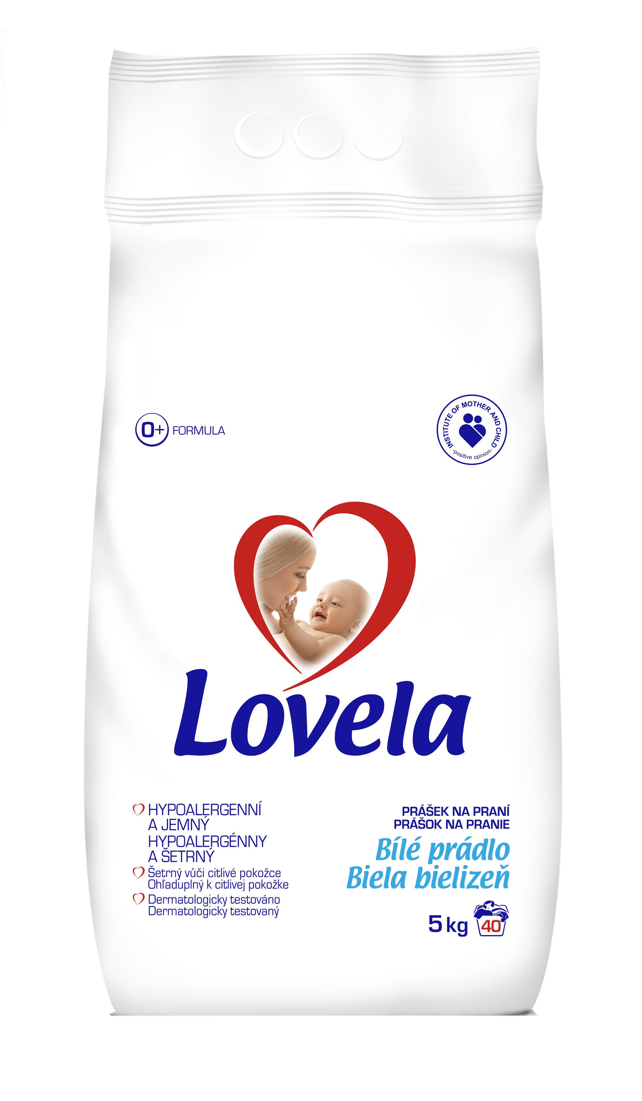 Lovela bílá dětský prací prášek, 40 praní 5 kg