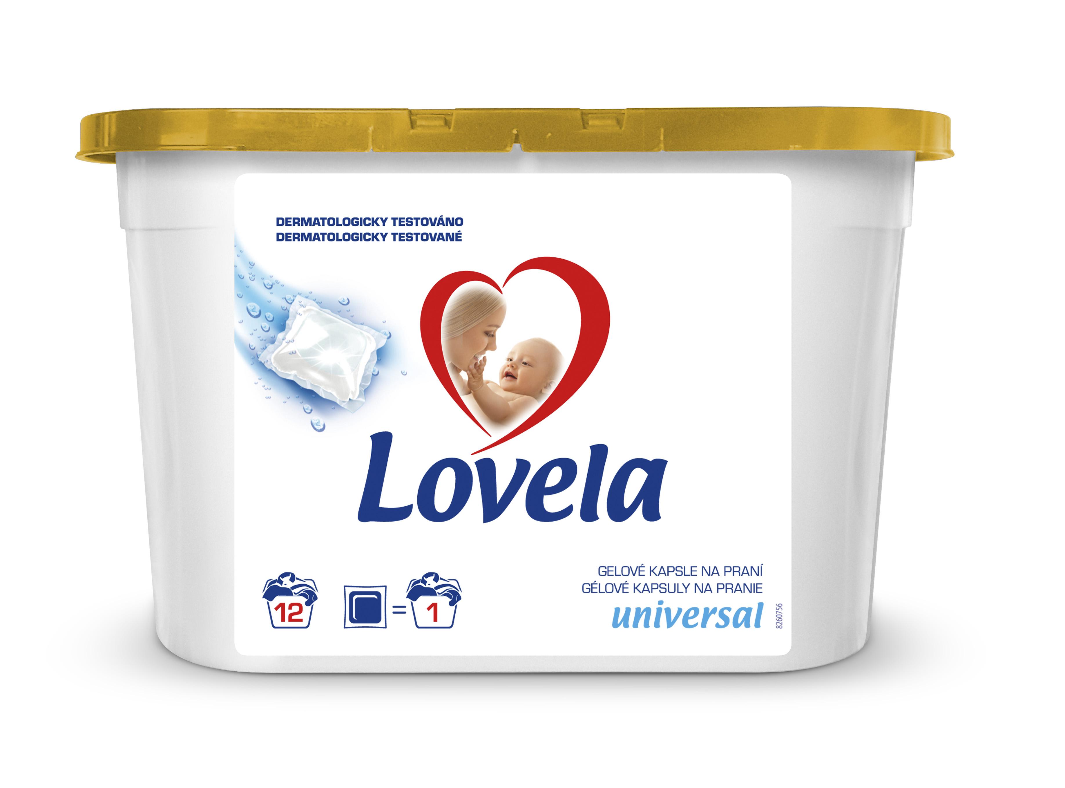 Lovela gelové kapsle, 12 praní 12 ks
