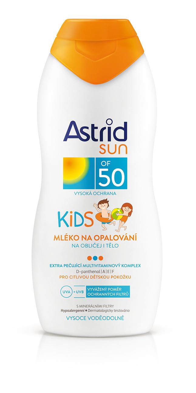 Astrid Sun Kids mléko na opalování OF 50 200 ml