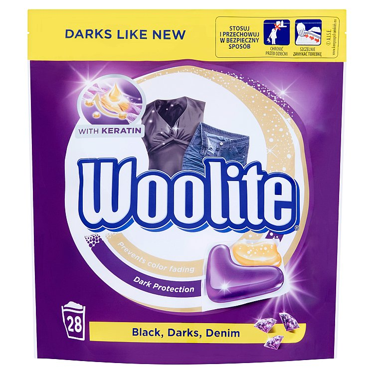 Woolite Black, Darks, Denim kapsle, 28 praní 28 ks