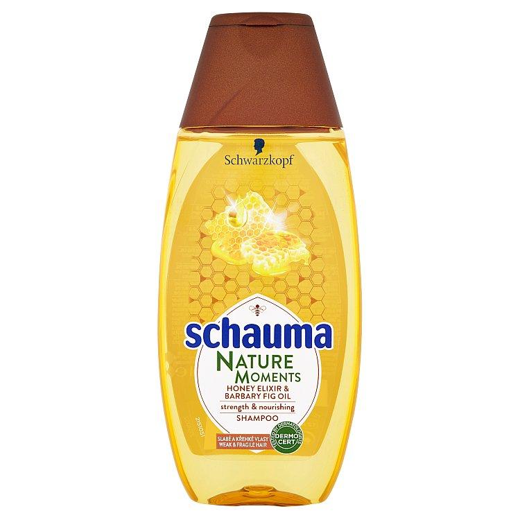 Fotografie Schauma Nature Moments Medový elixír a olej z opuncie mexické pro regeneraci a sílu šampon na vlasy 250 ml