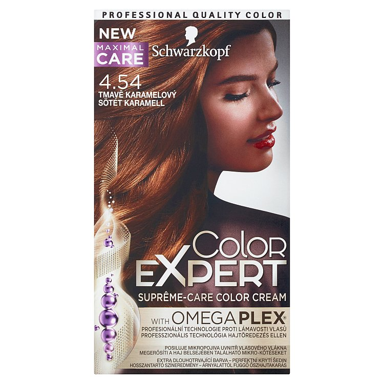 Schwarzkopf Color Expert barva na vlasy 4.54 Tmavě karamelový, 50 ml