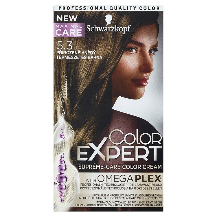 Schwarzkopf Color Expert barva na vlasy 5.3 Přirozeně hnědý, 50 ml