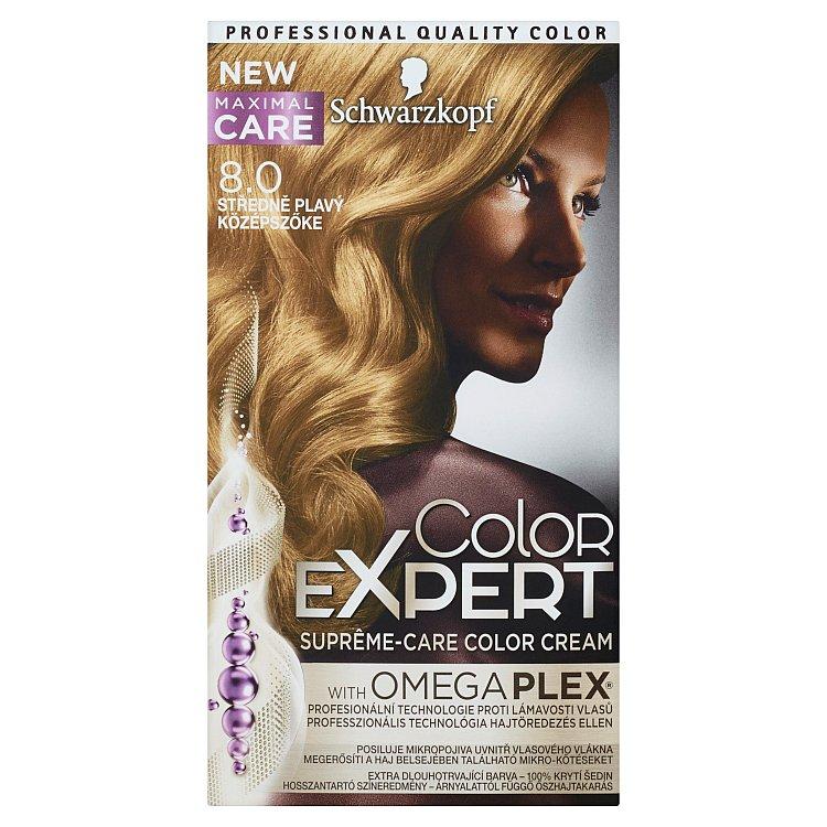 Schwarzkopf Color Expert barva na vlasy 8.0 Středně plavý, 50 ml