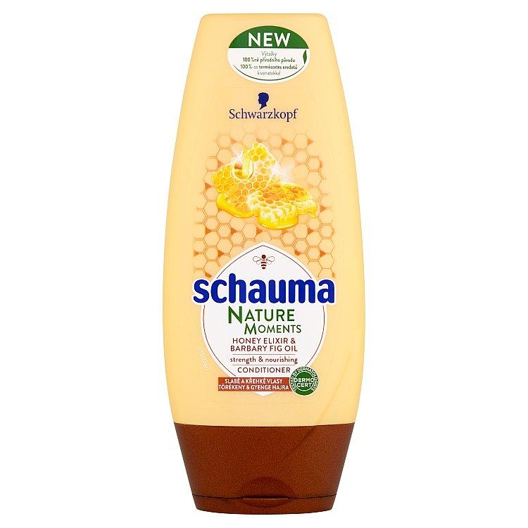 Fotografie Schauma Nature Moments Medový elixír a olej z opuncie mexické pro regeneraci a sílu balzám na vlasy 200 ml