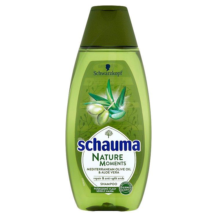 Schauma Nature Moments středomořský olivový olej a aloe vera šampon proti třepení konečků 400 ml
