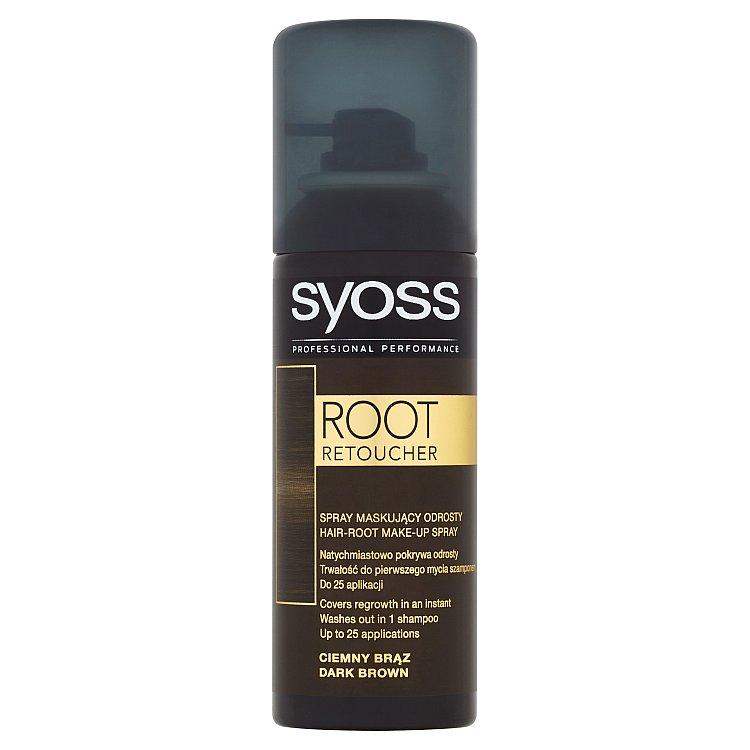 Syoss Root Retoucher korektor odrostlých vlasů tmavě hnědý, 120 ml