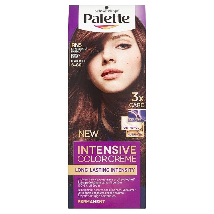 Fotografie Schwarzkopf Palette Intensive Color Creme barva na vlasy RN5 Červenohnědá marsala