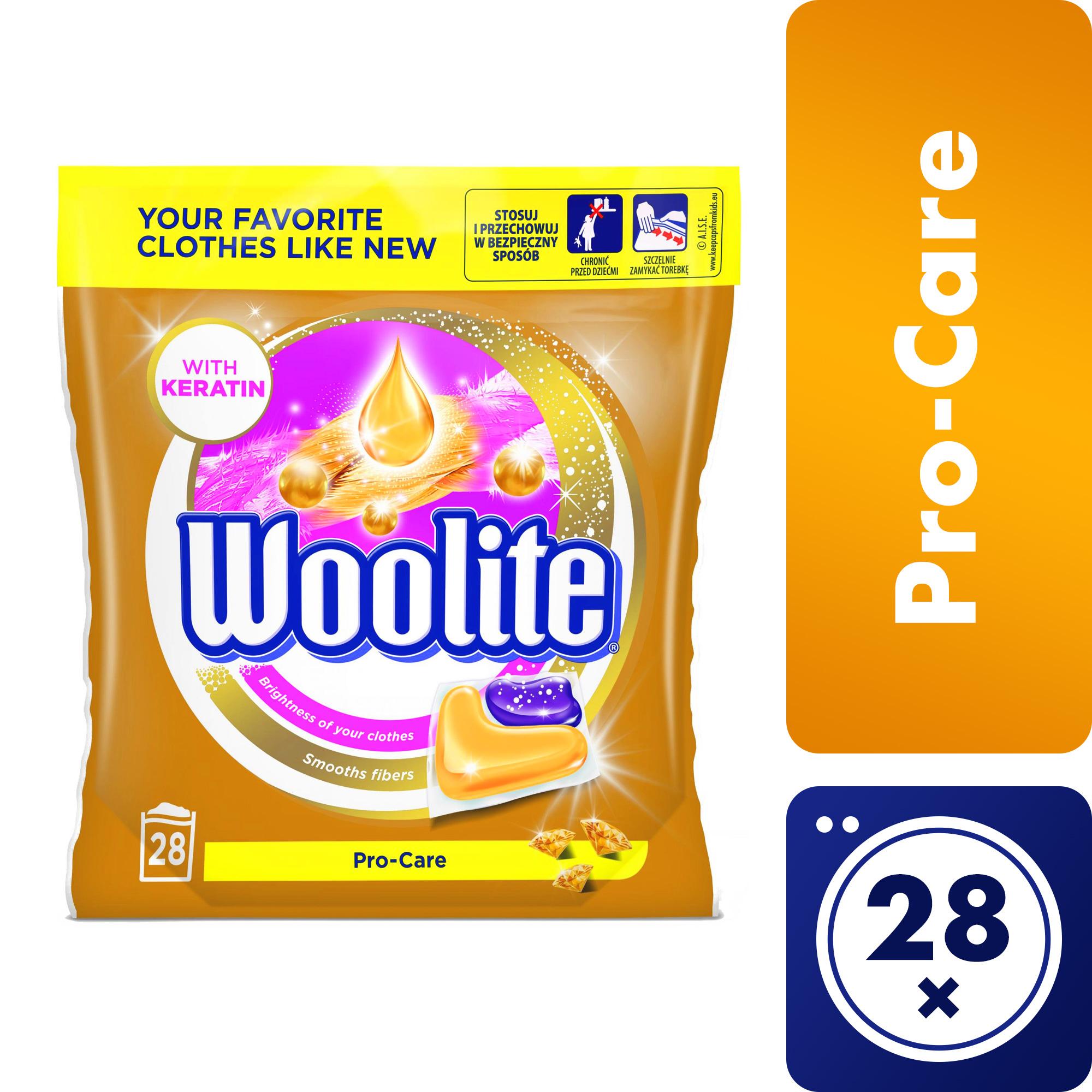 Woolite Pro-Care kapsle, 28 praní 28 ks