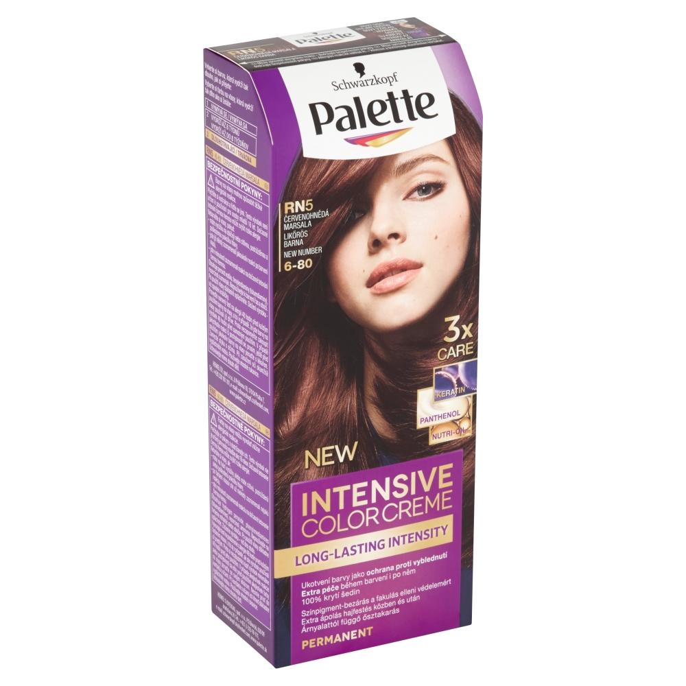 Schwarzkopf Palette Intensive Color Creme barva na vlasy odstín červenohnědá Marsala RN5