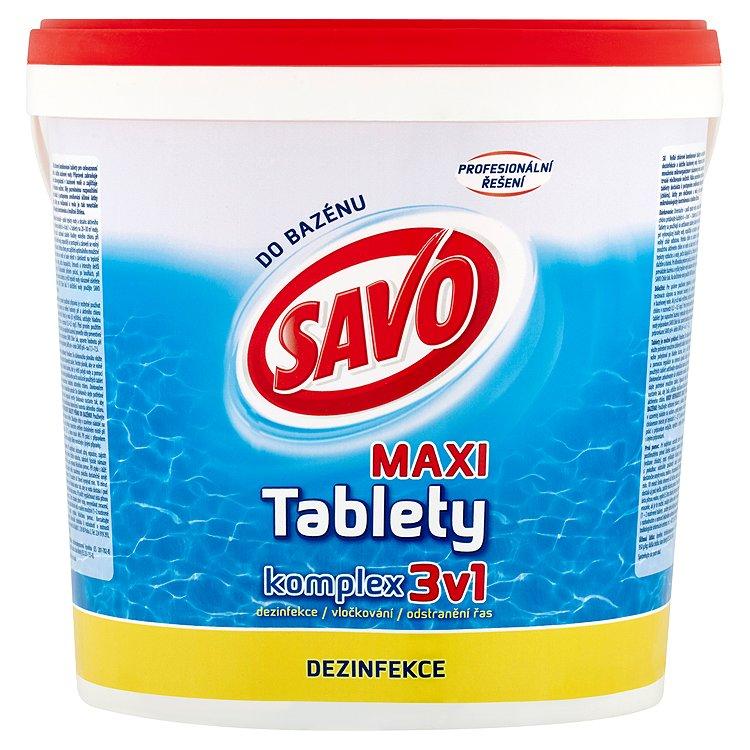 Savo chlorové tablety maxi kompex 3v1 4 kg