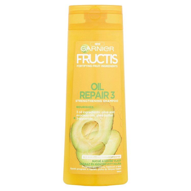 Fotografie Garnier Fructis Oil Repair Intense šampon pro velmi suché a nepoddajné vlasy 400 ml