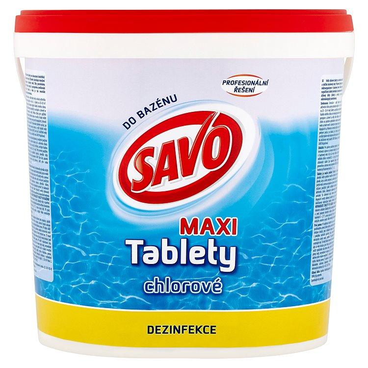 Fotografie Savo chlorové tablety maxi 4,6 kg