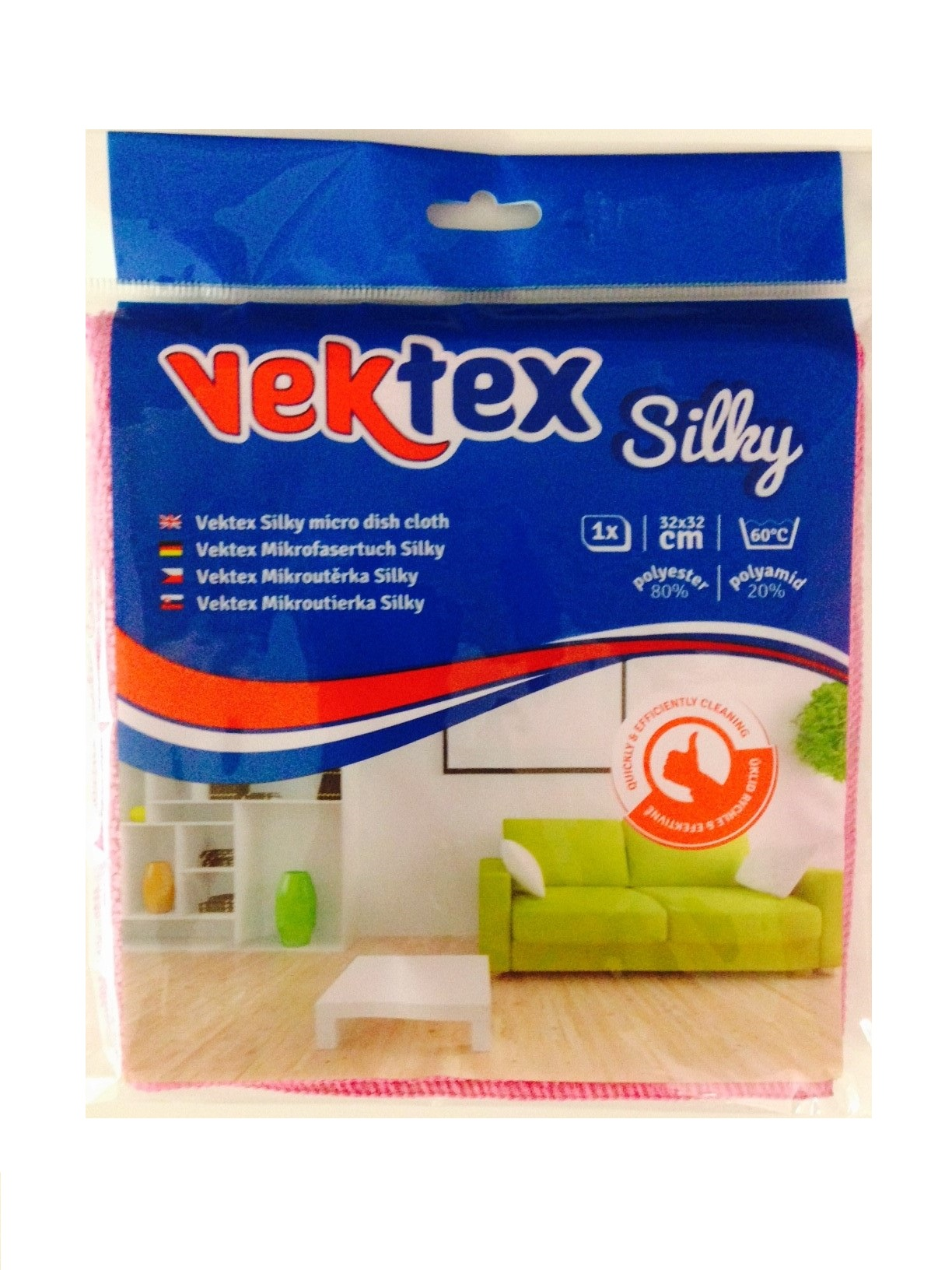 Vektex Silky utěrka z mikrovlákna, 32 x 32 cm 290 g