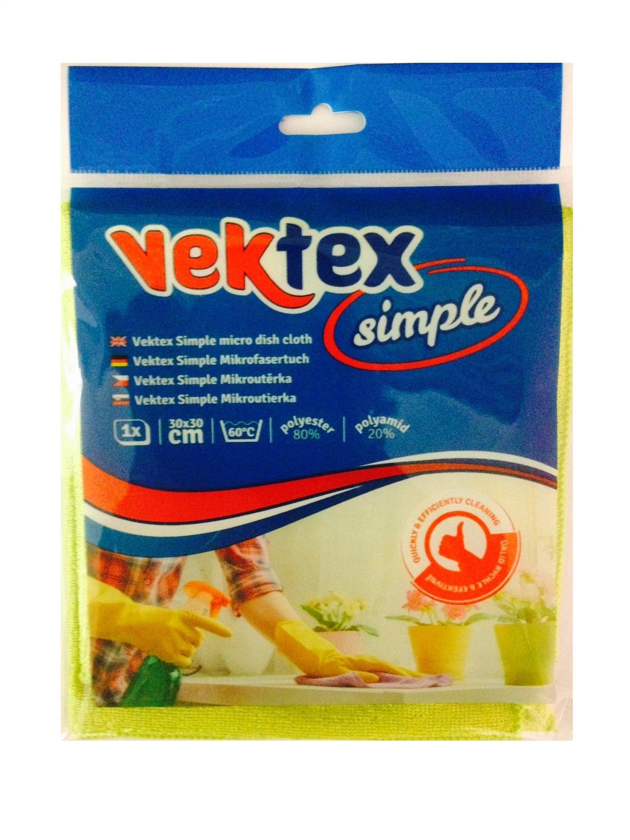 Vektex Simple utěrka z mikrovlákna 30 x 30 cm 210 g