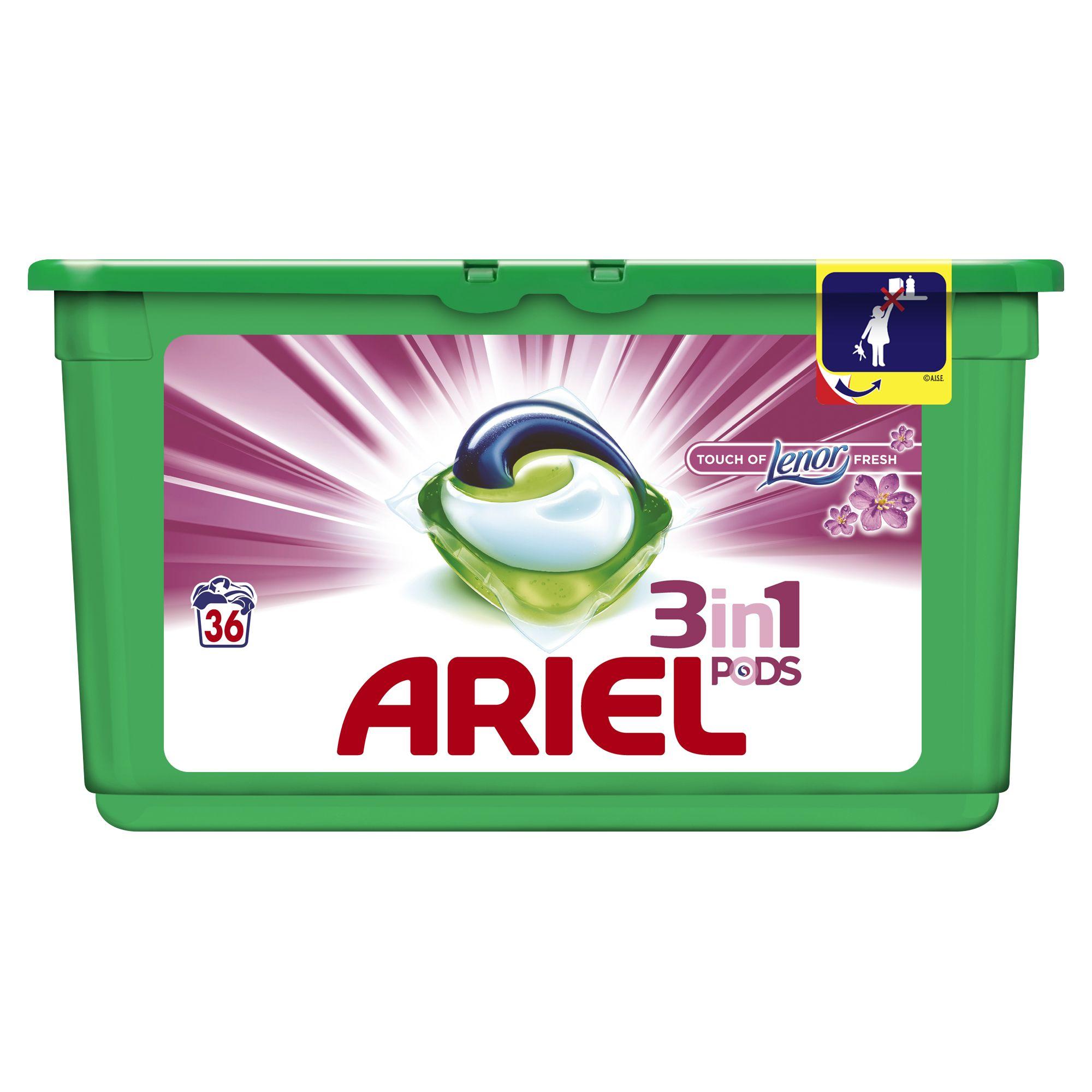 Ariel 3v1 Touch of Lenor gelové kapsle, 36 praní 36 ks