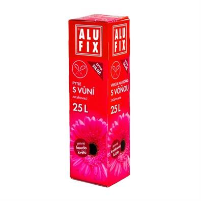 Alufix odpadkové pytle zatahovací s vůní kouzlo květů, 25 l 15 ks