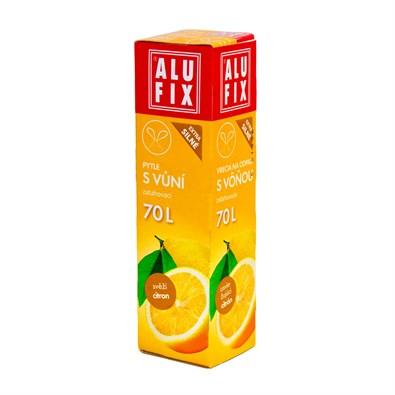 Alufix odpadkové pytle zatahovací s vůní citronu, 70 l 8 ks