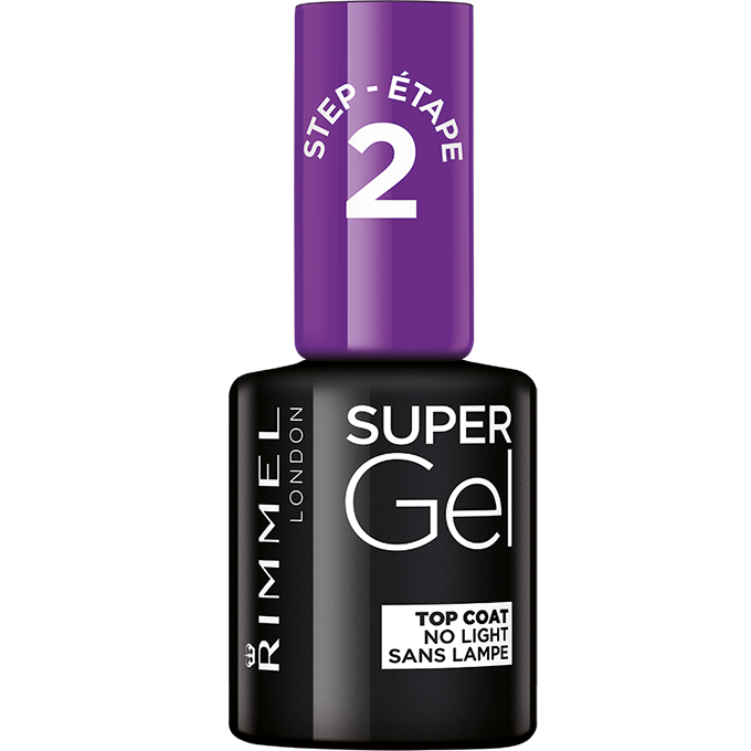 Rimmel Super Gel gelový lak na nehty Top Coat No Light, 12 ml