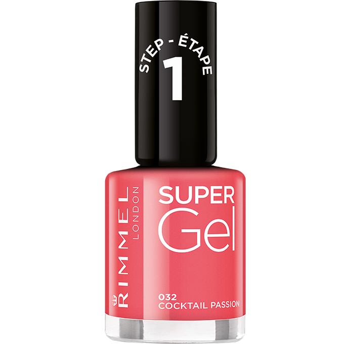Rimmel Super Gel gelový lak na nehty 032 Cocktail Passion, 12 ml