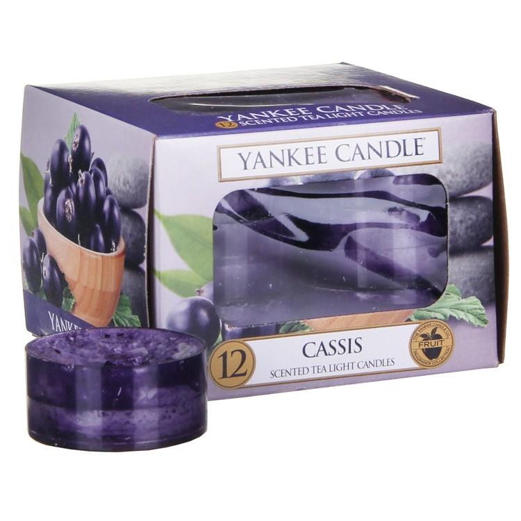 Yankee Candle čajové svíčky Cassis, 12 ks