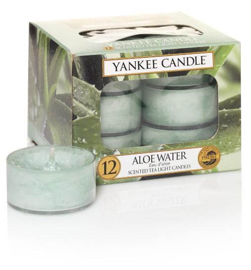 Yankee Candle čajové svíčky Aloe Water, 12 ks