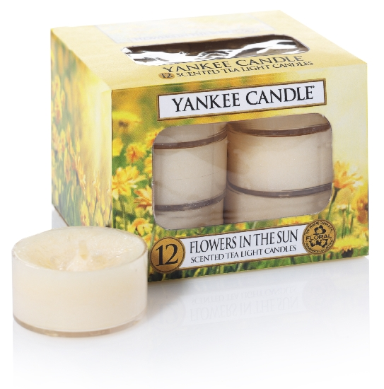 Yankee Candle čajové svíčky Flowers In The Sun, 12 ks