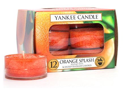Yankee Candle čajové svíčky Orange Splash, 12 ks