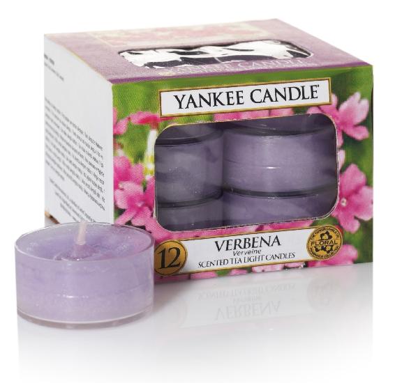 Yankee Candle čajové svíčky Verbena, 12 ks