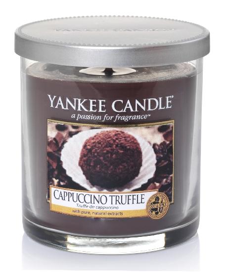 Yankee Candle Décor malý vonná svíčka Cappuccino Truffle, 198 g