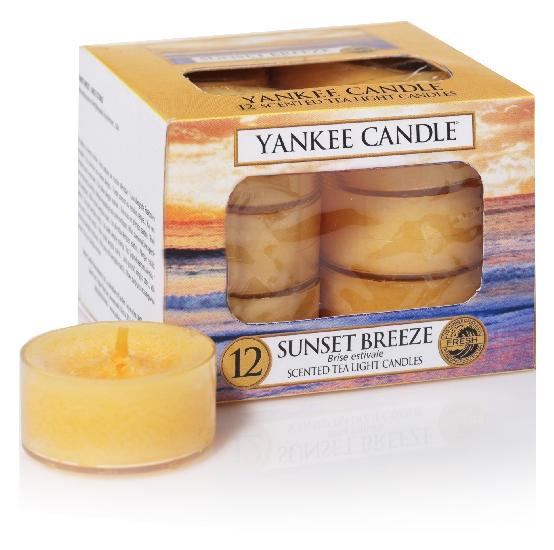 Yankee Candle čajové svíčky Sunset Breeze, 12 ks